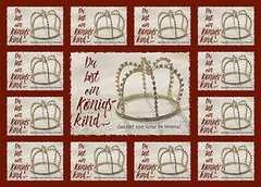 Aufkleber-Gruß-Karten: Du bist ein Königskind, 12 Stück