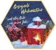 """Schafmilchseife Stern """"Gesegnete Weihnachten"""" (Laterne)"""