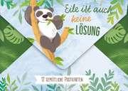 Postkarten-Set Panda: Eile ist auch keine Lösung