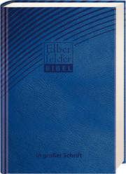 Elberfelder Bibel in großer Schrift - ital. Kunstleder blau
