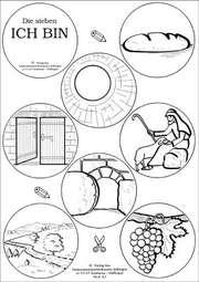 Die sieben ICH BIN - 1 Leiterbogen & 10x Arbeitsmaterial