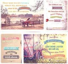 Postkartenserie - Vintage 12 Stk